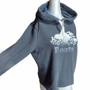 Roots Grey Hoodie Sweatshirt Large